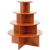 4-tier round table - cherry melamine