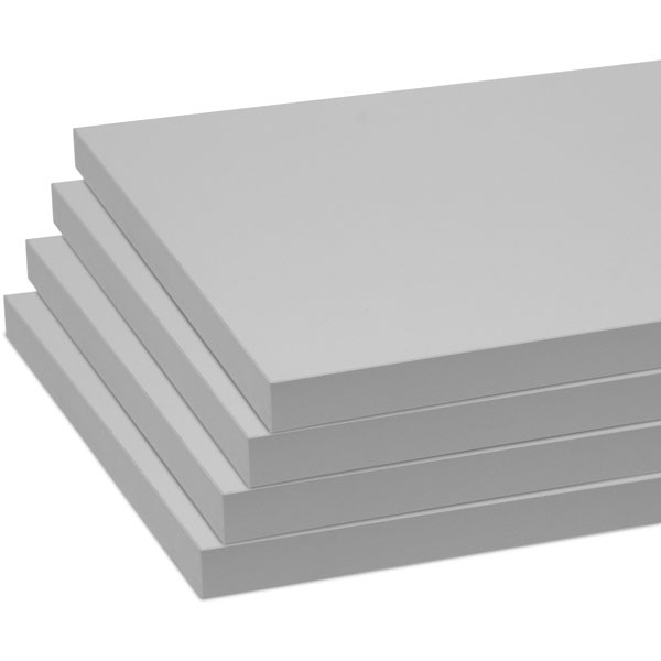 "Melamine shelves 8""x20"" 4-pack - gray"