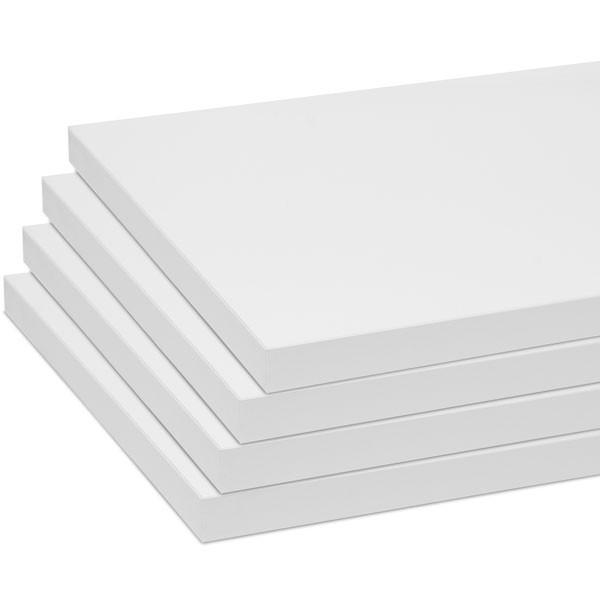 """Melamine shelves 10""""x46-1/2"""" 4-pack - white"""