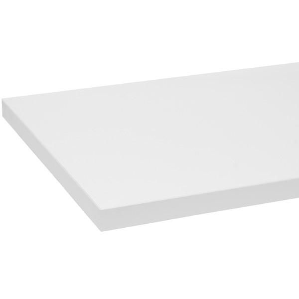 """Melamine shelf 8"""" x 48"""" - white"""