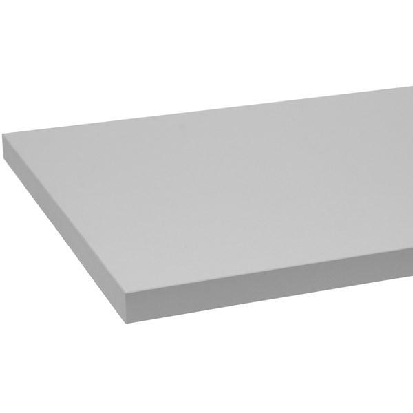 "Melamine shelf 10"" x 24"" - gray"