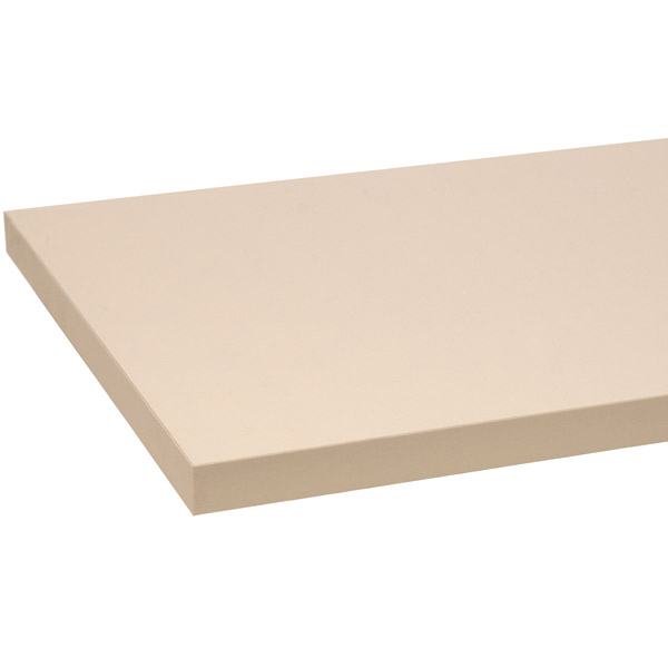 Melamine Shelf 12 x 36 Inches in Almond Finish