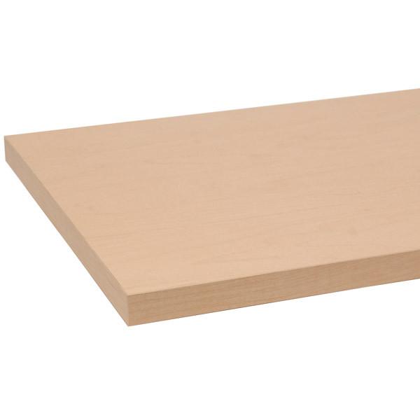 "Melamine shelf 8"" x 48"" - maple"
