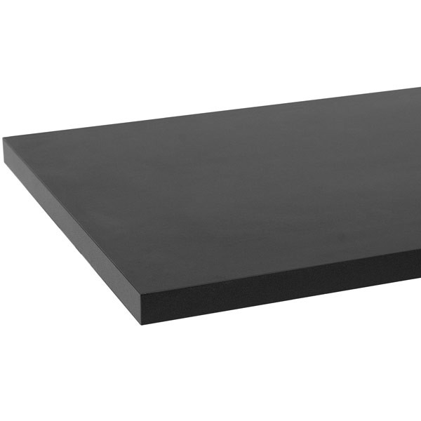 "Melamine shelf 10"" x 24"" - black"
