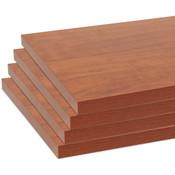 """Melamine shelves 10"""" x 46-1/2"""" 4-pack - cherry"""
