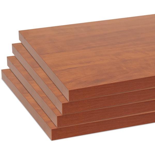 """Melamine shelves 8"""" x 20"""" 4-pack - cherry"""