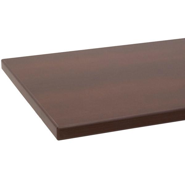 """Melamine shelf 8"""" x 24"""" chocolate cherry with chocolate cherry 3mm edge-banding"""