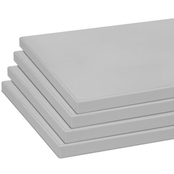 """Shelves (set of 4) for 55002 gray 10""""x19.5"""" w/black 3mm edgebanding"""