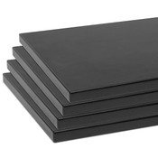 "Shelves (set of 4) for 5500 black 10""x19.5"" w/black 3mm edgebanding"