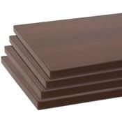 "Shelves (set of 4) for 55007 chocolate cherry 10""x19.5"" 3mm edgebanding"