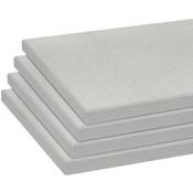Melamine shelves 10 x 19.5 - Brushed Aluminum - pack of 4