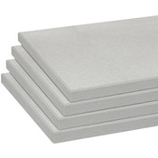 Melamine shelves 10 x 19.5 - Brushed Aluminum - pack of 4
