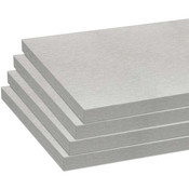 Melamine shelves 10 x 23 - Brushed Aluminum - pack of 4