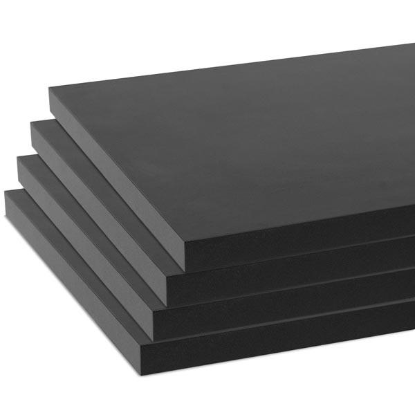 """Melamine shelves 8""""x14"""" 4-pack - black"""