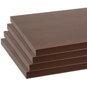 "Melamine shelves 8""x14"" 4-pack - chocolate cherry"