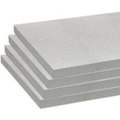 Melamine shelves 8 x 14 - Brushed Aluminum - pack of 4