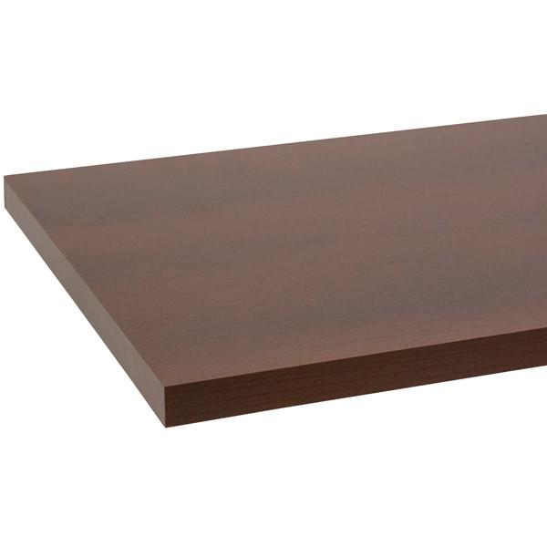 """Melamine shelf 10"""" x 24"""" - chocolate cherry"""