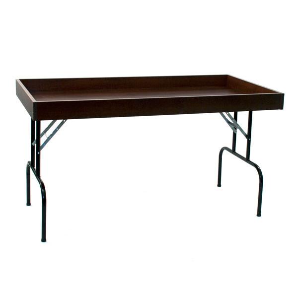 "Dump table 30""wx60""lx29""h - chocolate cherry"