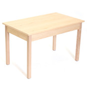 """Nesting table 24""""wx40""""lx25""""h - maple"""