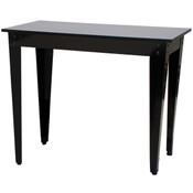 "Nesting Table Black Top/Black Metal Legs 24""Wx48""Lx36""H"