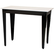 "Nesting Table White Top/Black Metal Legs 24""Wx48""Lx36""H"