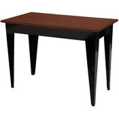 "Nesting Table Cherry Top/Black Metal Legs 24""Wx36""Lx30""H"